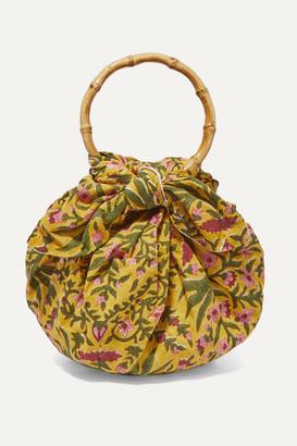 8ce50e5fe54 Emily Levine - Dumpling Knotted Floral-print Cotton-voile Tote - Yellow