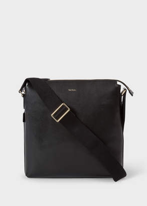 Paul Smith Men's Black Leather 'New City' Small Cross-Body Bag