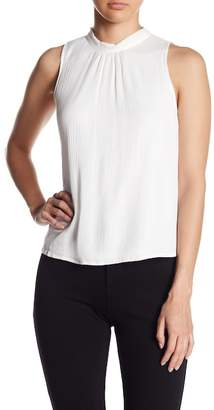 Flying Tomato Button Side Woven Tank