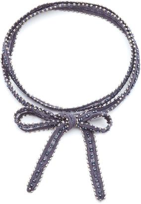 Chan Luu Multi Way Bead Embellished Chiffon Wrap $55 thestylecure.com