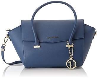 Trussardi Jeans 75b00014-1y090122, Women's Top-Handle Bag, Blu, 50x39x17 cm (W x H L)