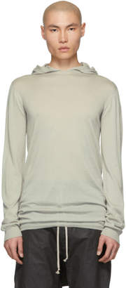 Rick Owens Grey Cashmere Long Sleeve Hoodie