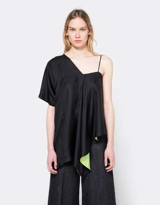 Maison Margiela Silk One Shoulder Top