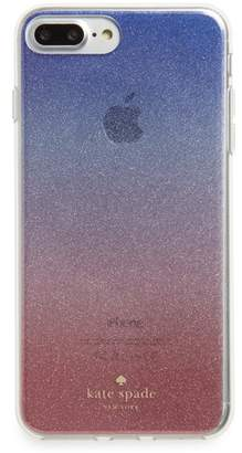 Kate Spade ombre sunset glitter iPhone 7/8 & 7/8 Plus case