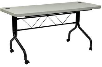 Office Star Resin Multi-Purpose Flip Table with Locking Casters
