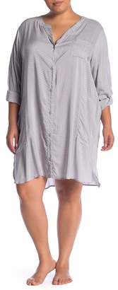 DKNY Shirt Sleep Shirt (Plus Size)
