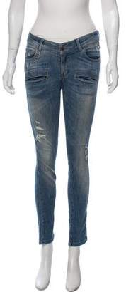 Pierre Balmain Low-Rise Skinny Jeans