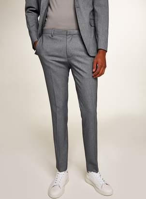 Topman Grey Houndstooth Ultra Skinny Fit Trousers