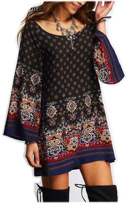 Desigual DraFenn Summer Style Geometric Printed Baroque Dress Vintage Dress Causal Beach M