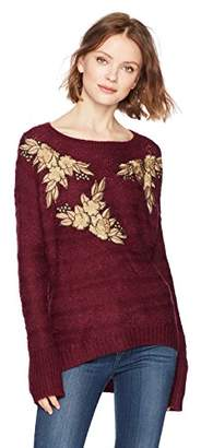 Ella Moon Women's Lucca Applique Pullover Sweater