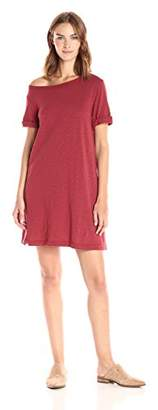 Wilt Women's One Shoulder Roll Cuff Tee Dress