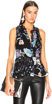 3.1 Phillip Lim Floral Ruffle Tank
