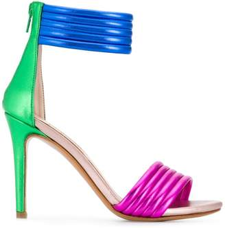 Albano three-tone sandals