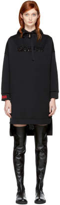 Fendi Black Embellished MCMXXV High-Low Hoodie