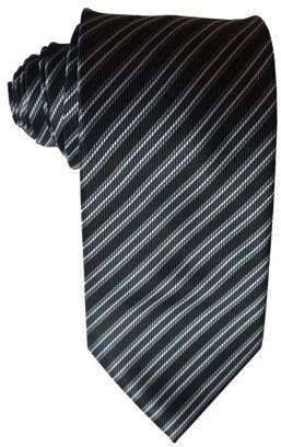 James Cavolini Italy Classic Black Striped Neck Tie