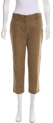 Tory Burch Mid-Rise Cropped Pants