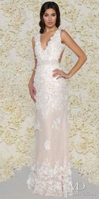 Mac Duggal Open Back Lace Floral Applique Evening Gown $798 thestylecure.com
