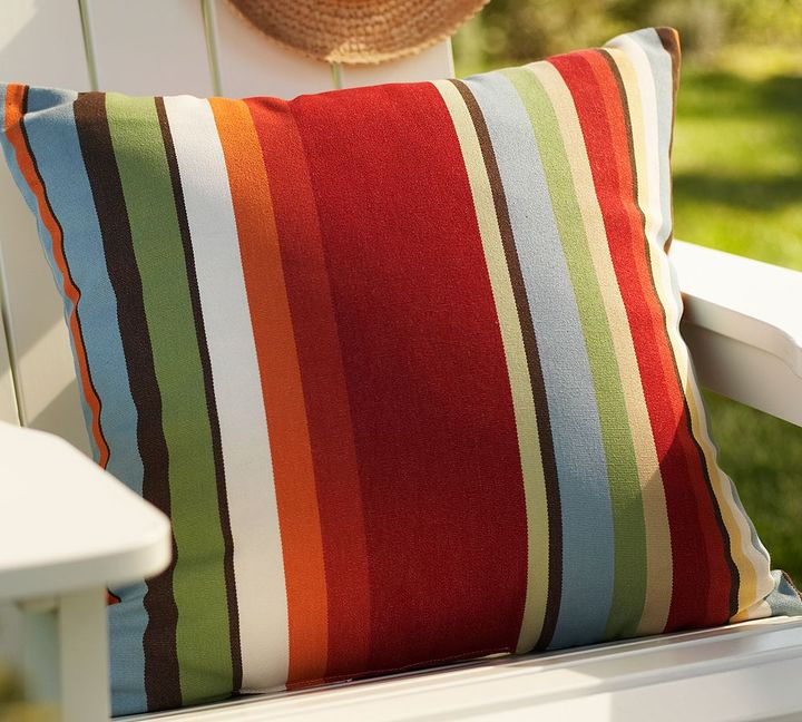 Poolside Stripe Outdoor Pillow