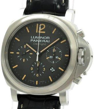 Panerai [パネライ ルミノールデイライト クロノグラフ 腕時計 ウォッチ ブラック ステンレススチール(SS) PAM00356 [中古]