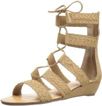 Carlos by Carlos Santana Women's Kamilla Ghillie Wedge Sandal Size 8 M