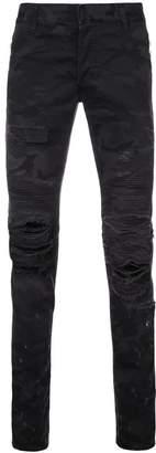 Balmain ripped slim fit jeans