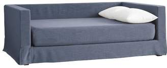 Pottery Barn Teen Jamie Daybed Frame + Daybed Slipcover + Mattress Slipcover, Queen, Storm Blue Enzyme Washed Canvas, IDS