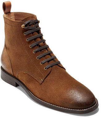 Cole Haan Men's Feathercraft Grand Leather Lace-Up Boots w/ Contrast Accents