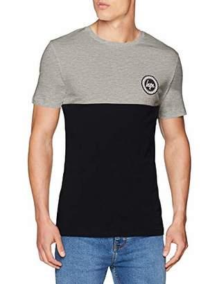 Hype Men's Bradford T-Shirt, (Bianco White/Black)