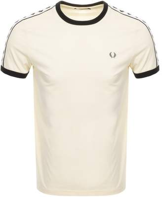 Fred Perry Taped Ringer T Shirt Yellow