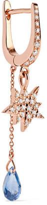 Diane Kordas Cosmos 18-karat Rose Gold, Diamond And Sapphire Earring