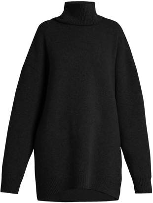 Raey Displaced-sleeve roll-neck wool sweater