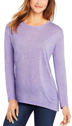 Hanes Women's Long-Sleeve Lace Panel Tee
