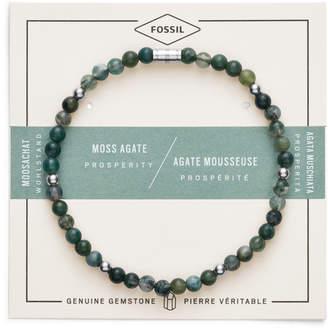 Fossil Moss Agate Bracelet