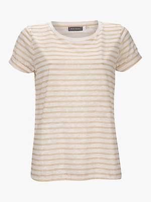 74e101d1bab Mint Velvet Ivory Striped Burnout Tee