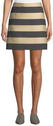 Derek Lam Awning-Stripe A-Line Mini Skirt