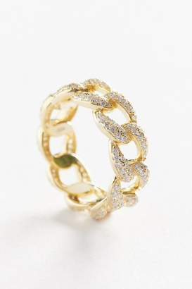 The M Jewelers Iced Out Cuban Link Ring
