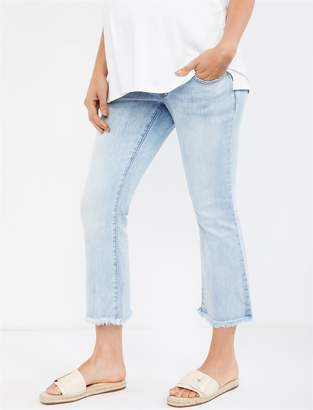 A Pea in the Pod Luxe Essentials Secret Fit Belly Chelsea Crop Flare Boot Cut Maternity Jeans