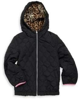 London Fog Girl's Reversible Hooded Jacket