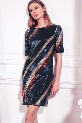 Next Womens Multi Sequin Dress