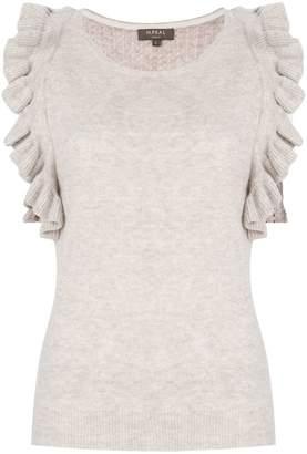 N.Peal cashmere ruffled sleeve top