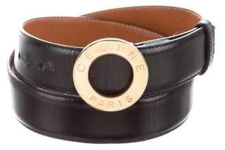 Celine Gold-Tone Buckle Leather Belt