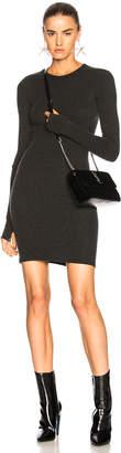 Enza Costa Cashmere Cuffed Sleeve Dress