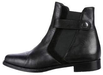 Manolo Blahnik Leather Chelsea Booties
