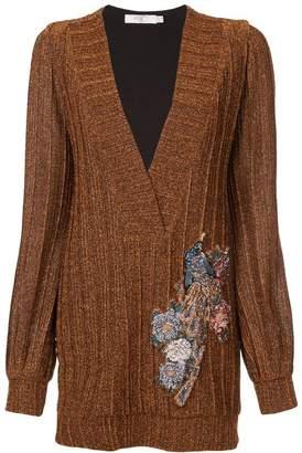 PatBO lurex embellished V-neck tunic