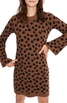 Madewell Leopard Dot Sweater Dress