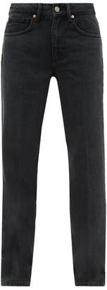 Raey Push Straight Leg Jeans - Womens - Black