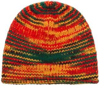 The Elder Statesman Multicoloured Rasta Cashmere Beanie Hat