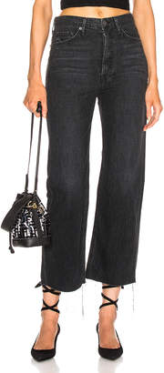 GRLFRND Bobbi High Rise Wide Leg Crop in On The Road | FWRD
