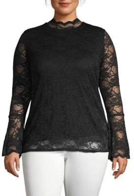 Vince Camuto Plus Modish Lace Blouse