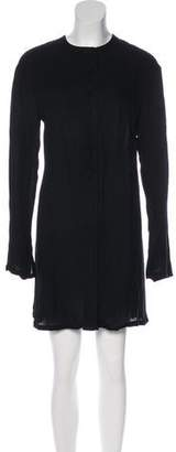 Chloé Button-Up Knee-Length Dress